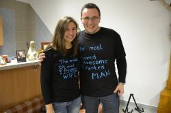 DSC_0627.JPG - Vzájomné manželské obdarovanie sa vlastnoručne namaľovaným tričkom