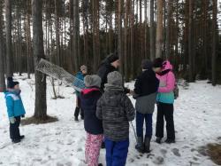 Skautská akcia február 2019 - - trénovanie skautských uhlov